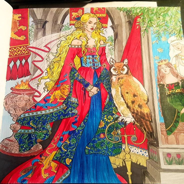 Cersei Lannister From A Game Of Thrones Coloring Book