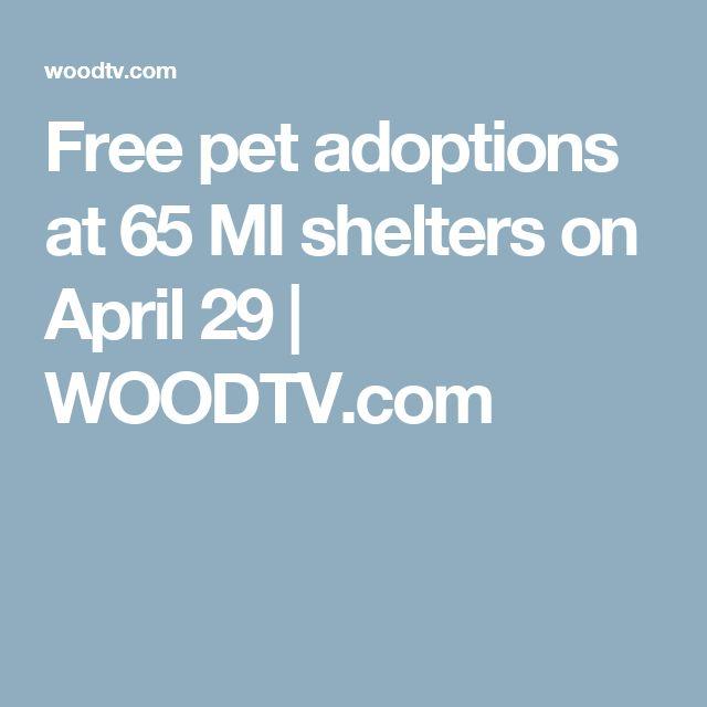 Free pet adoptions at 65 MI shelters on April 29 | WOODTV.com