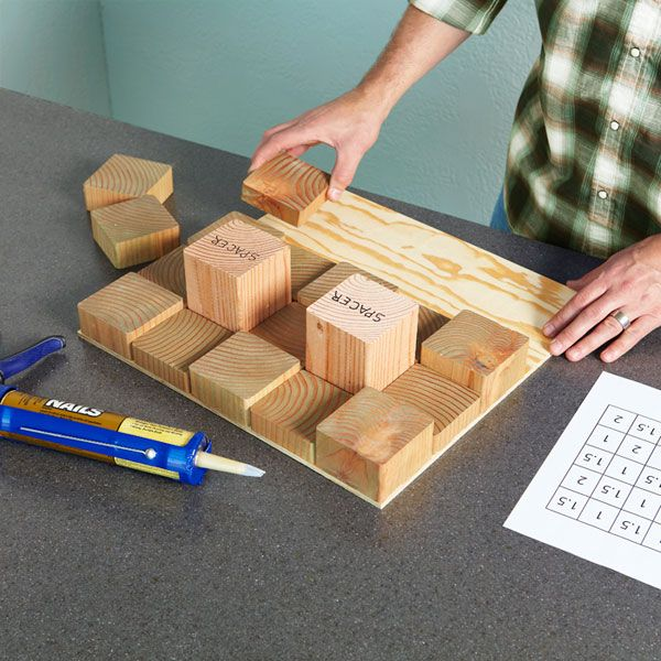 VillarteDesign Artesanato: Painel para paredes decorado com blocos de madeira - Nova textura que você faz em um fim de semana
