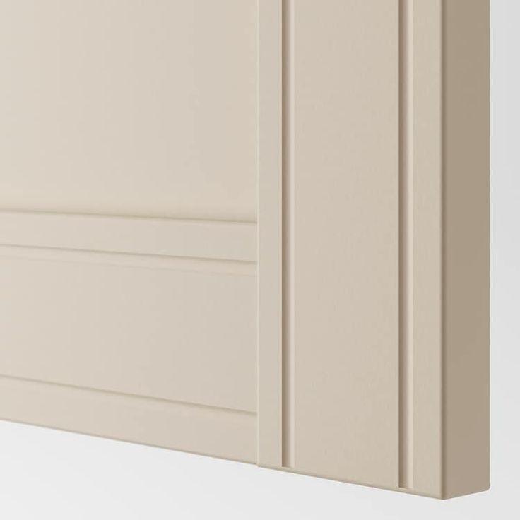 pax corner wardrobe white flisberget light beige ikea