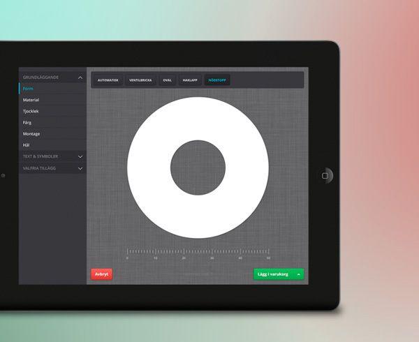 Bravomedia har tagit fram koncept och gränssnittsdesign till en responsiv webbaserad app för skyltbeställning åt Skövde Gravyr.