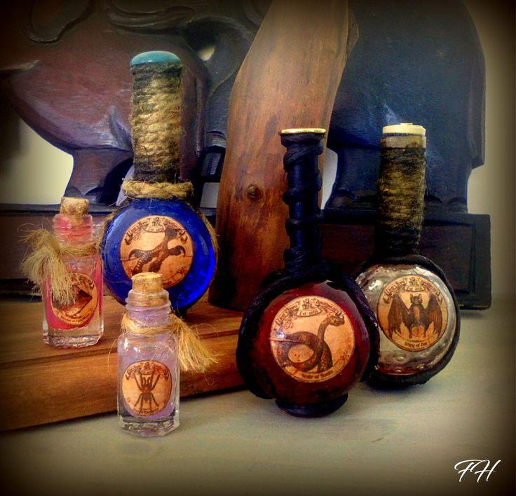 Répliques: Fioles et potions magiques - Sorcier et Sorcière - : Accessoires de maison par figurinesheros