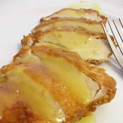 my FAVORITE lemon chicken recipe ... i made this last night, again ... i'm pretty sure i could eat this EVERY night.  i've included how to bake the chicken instead of frying.