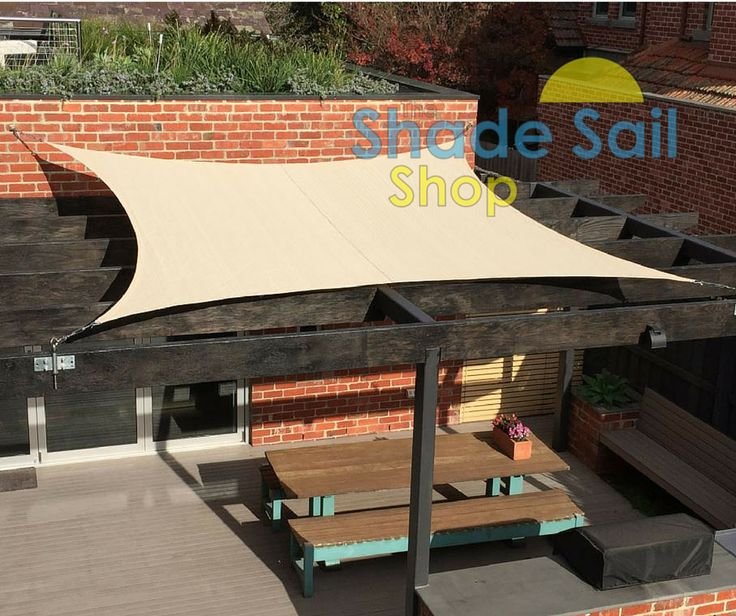 Michael Has Use A 4mx4m Square Shade Sail Over His Pergola Installed With Fascia Bracket