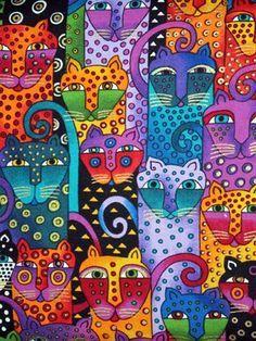 Cats - Laurel Burch - WikiArt.org