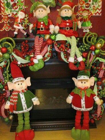 Resultado de imagen para duendes de fieltro navideños