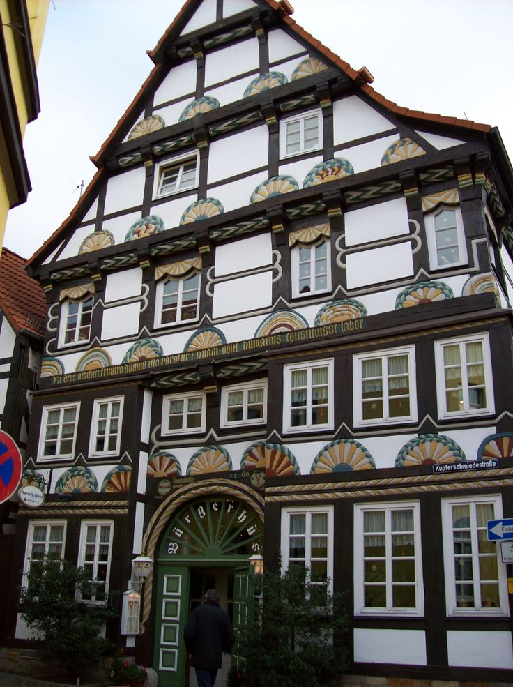 Medieval Buildings, Hameln, Germany The Pied Piper story originated here.