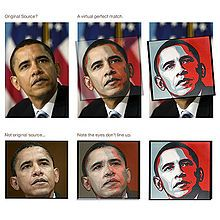 "Barack Obama ""Hope"" poster - Wikipedia tells the story - if you click through the image. This pinned image shows the modifications to the original uncredited work."