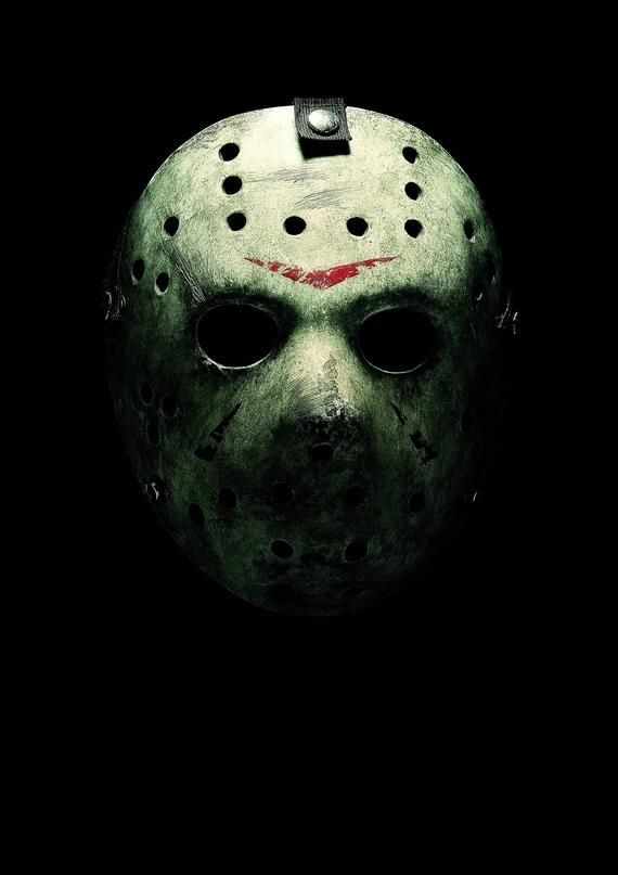 Friday The 13th Jason Voorhees Hockey Mask Classic Horror Movie Poster In 2020 Classic Horror Movies Posters Friday The 13th Friday The 13th Poster