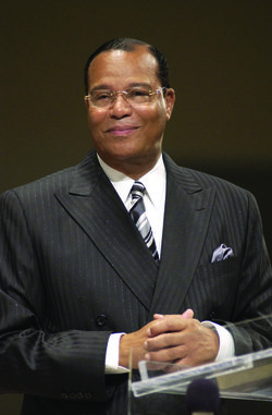 Louis Farrakhan (b.1933) (born Louis Eugene Wolcott) is the leader of the  mainly African-American religious movement the Nation of Islam (NOI). He  was appointed by the longtime NOI leader, Elijah Muhammad, as the National Representative of the Nation of Islam. In October 1995, he organized and led the Million Man March in Washington, D.C. Health issues caused him to reduced his responsibilities with the NOI in 2007.