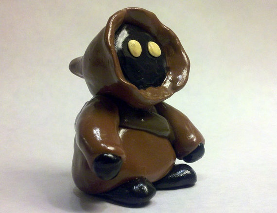Star Wars Jawa Figurine - Polymer Clay Sculptures