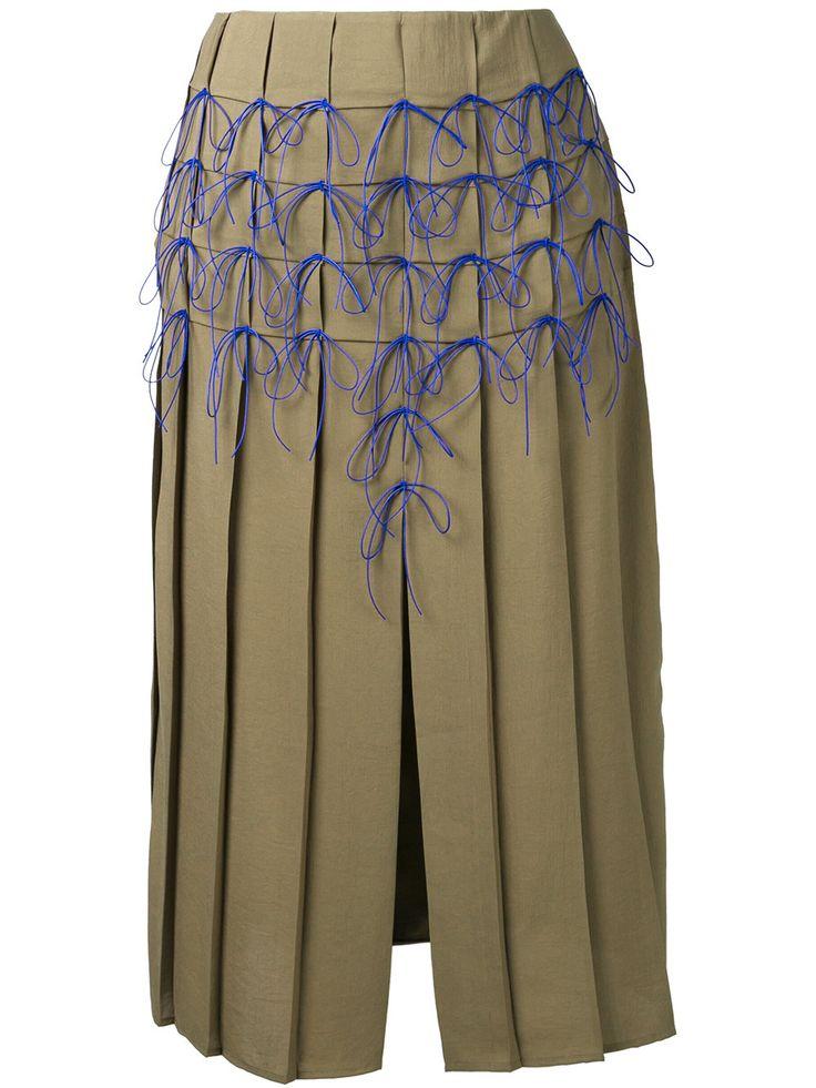 Marco De Vincenzo юбка в складку с аппликациями-бантами