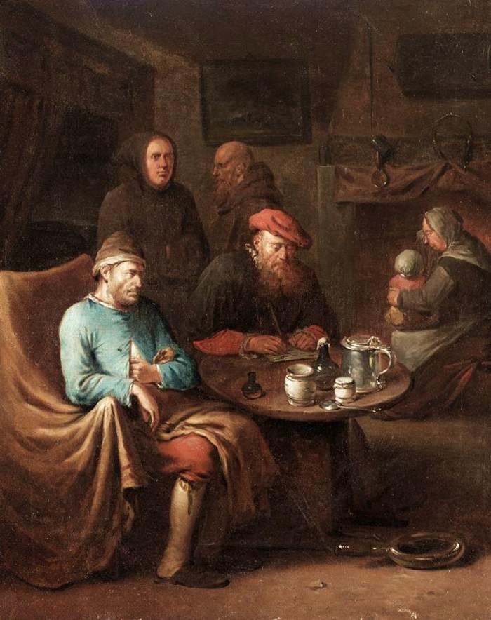 heemskerck egbert van the younger visit of the doctor