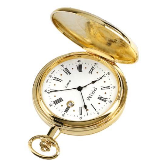 Kapesní hodinky Prim zlacené