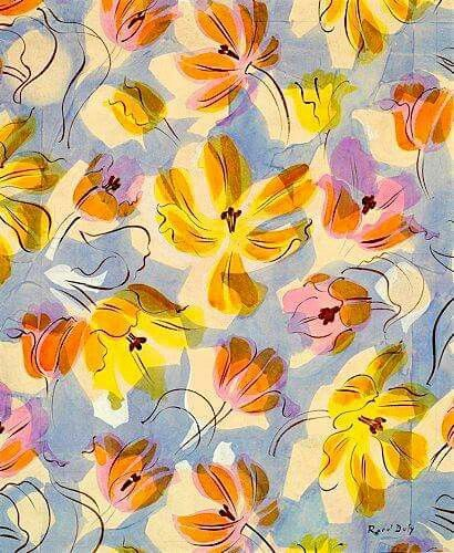 Raoul Dufy. A lovely way to paint decorative tulips