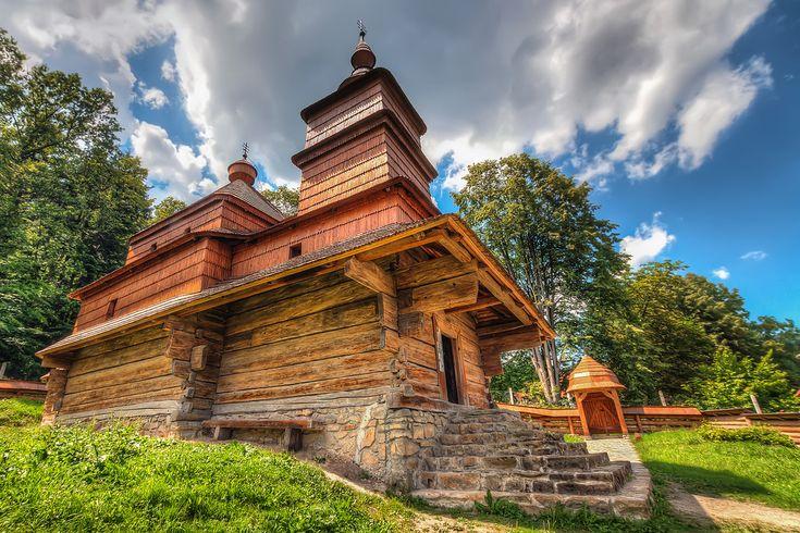 Lovely wooden church in Open air museum in Bardejovske Kupele. #Slovakia