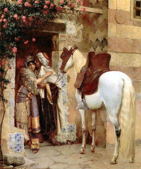 'The Lovers', 1918- Rudolf Ernst/ Rudolphe Ernst (Austrian,1854-1932)