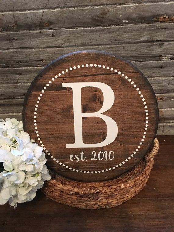 Initial Sign | Framed Sign | Letter Sign | Round Sign| Gallery Wall| Wedding Sign| Custom | Personalized Sign