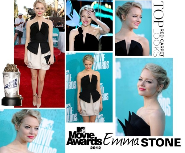 Emma stone mtv movie awards 2012 mtv movie awards emma stone and