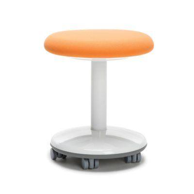 OFM Orbit Vinyl Lab Stool with Wheel Upholstery: Orange Static