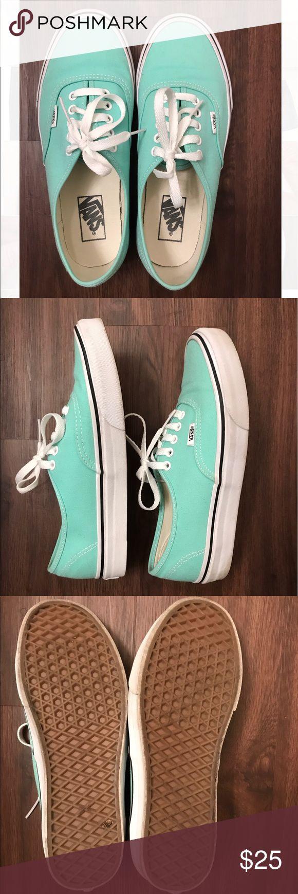 Mint Green Women's Vans Like new. Mint green. Vans Shoes Sneakers