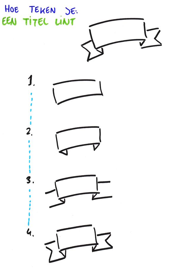 Hoe teken je een titel lint