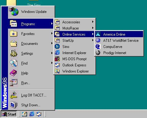 Windows 98 AOL | Vintage UI, Software, and Operating Systems in 2019