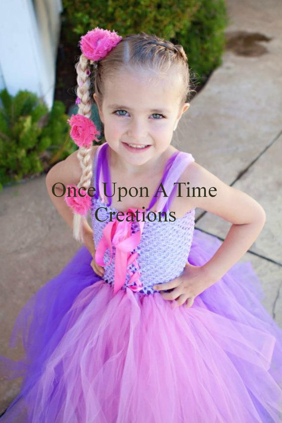 Rapunzel Inspired Princess Tutu Dress - Birthday Outfit, Photo Prop, Halloween Costume - 12M 2T 3T 4T 5T - Disney Tangled Inspired via Etsy
