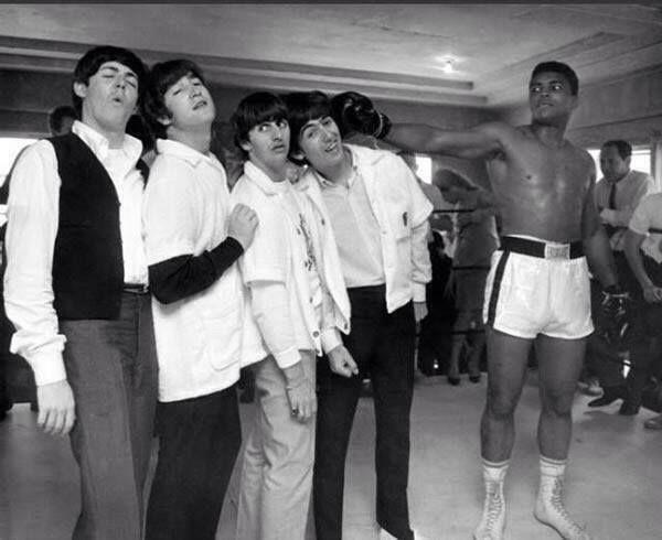 Los Beatles conocen a Muhammad Ali