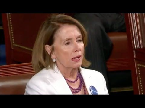 This woman is nothing but a trouble maker-Nancy Pelosi Reaction to Trump's First Presidential Address to Congress - YouTube