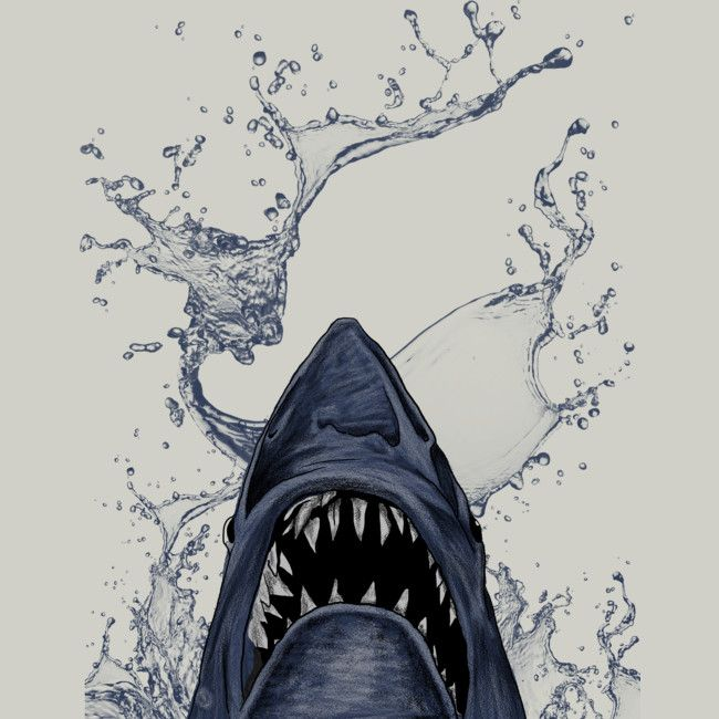 sharks is a T Shirt designed by gupikus to illustrate your life and is available at Design By Humans
