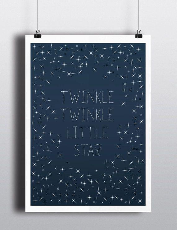 Baby Art Print Twinkle Twinkle Little Star  by HelloFridaysDesign, $25.00