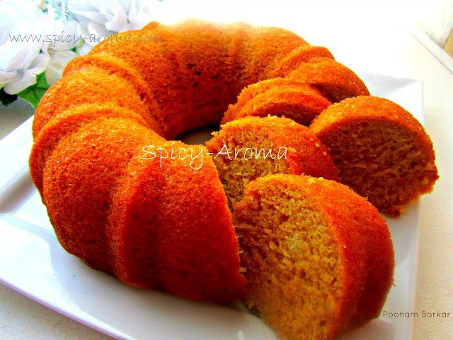Mango Cake Recipe (Spicy-Aroma), made with mango pilp