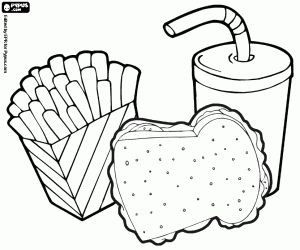 fast food coloring pages printable games  disegni