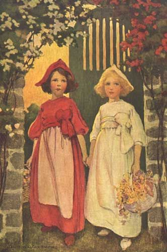 This illustration came from:    Coussens, Penrhyn W. A Child's Book of Stories. Jessie Willcox Smith, illustrator. New York: Duffield and Company, 1911.