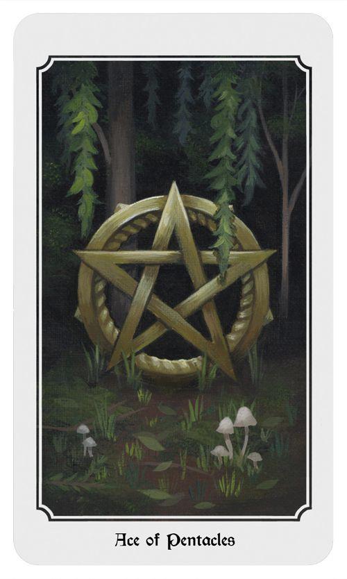 Ace of Pentacles. From the Anima Mundi tarot deck.