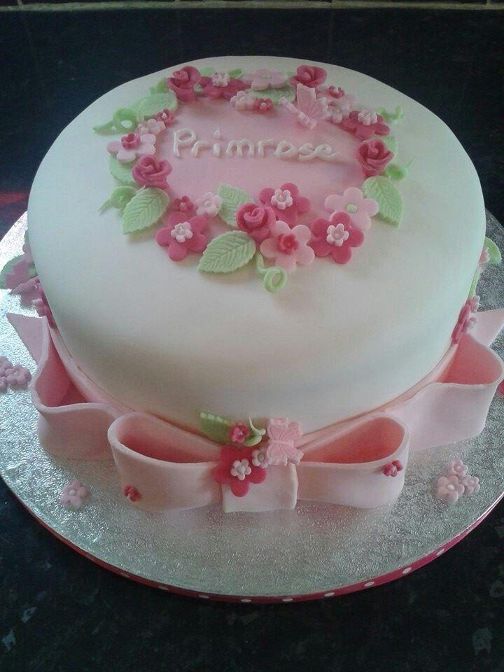 Christening cake for Primrose