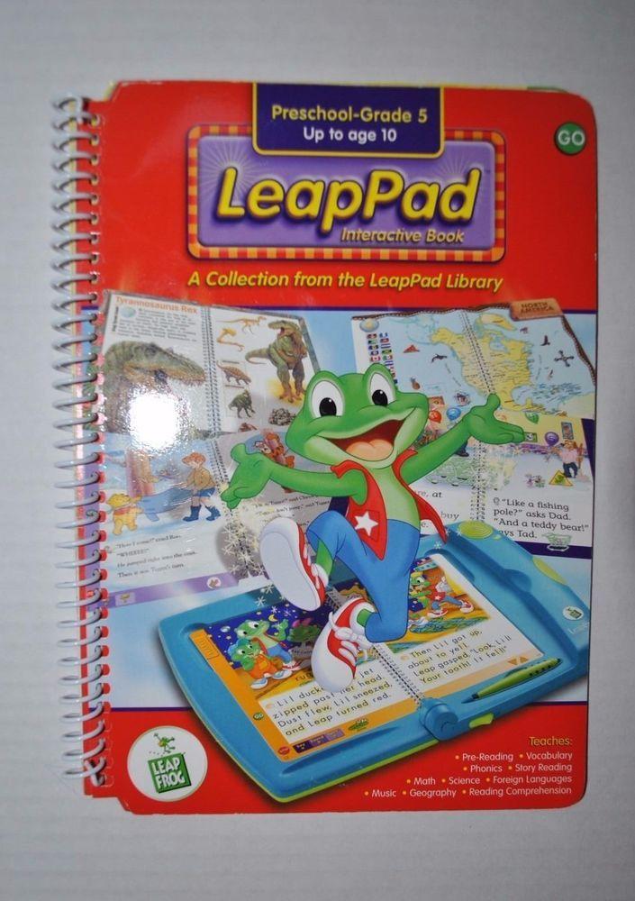 leapfrog preschool leapfrog leap pad interactive book ages preschool grade 5 635