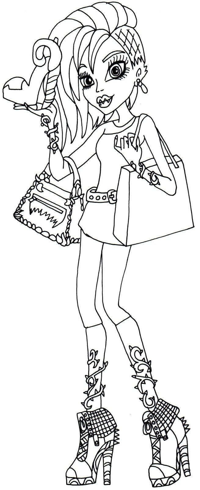 217 best coloring pages images on pinterest monster high draw