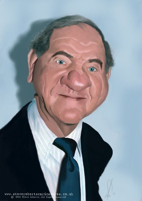 Steve Roberts' Caricatures.: Celebrity caricature - Karl Malden