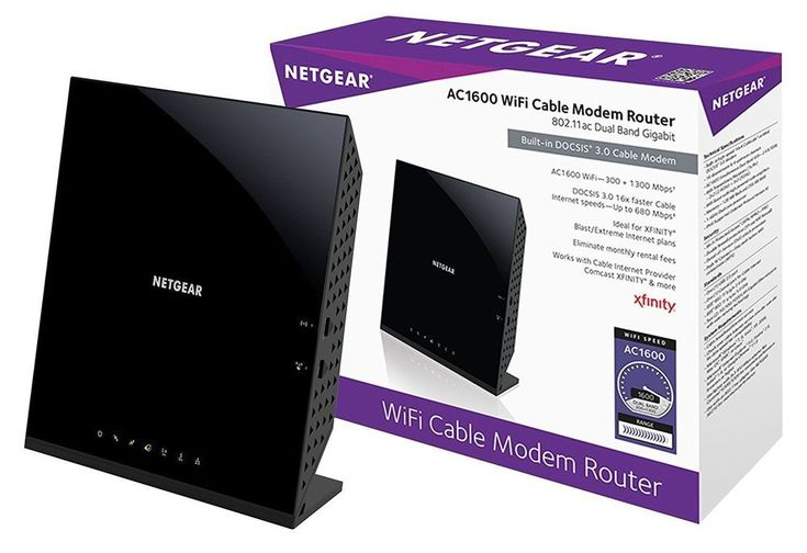 Netgear AC1600 C6250-100NAS DualBand WiFi DOCSIS Cable Modem Router NEW SEALED #NETGEAR