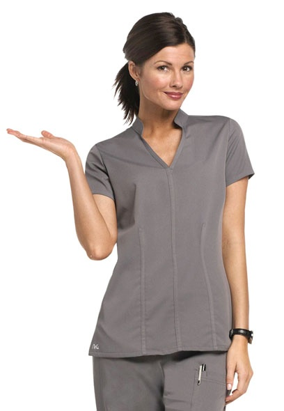 NrG by Barco Mandarin collar scrub top.