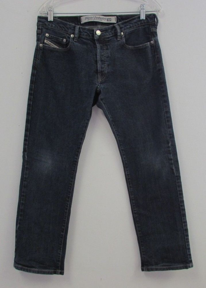 DEISEL JEANS Size 31 Button Fly Dark Wash Blue Cropped Capri Inseam 27.5 in. #Deisel #CapriCropped