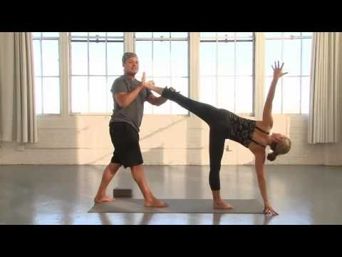 Yoga Journal at Home: Standing Hip Openers with Baron Baptiste - YouTube