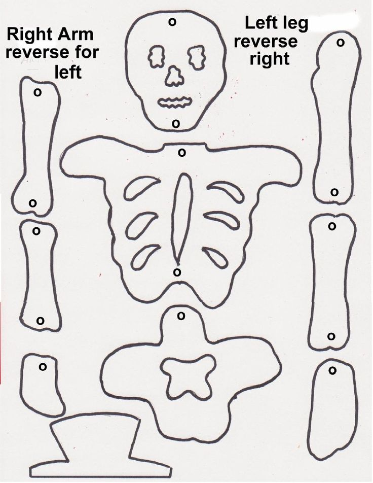 Lovely Skeleton Crafts For Kids Part - 11: Coloring Page Craft Projects Patterns Ideas