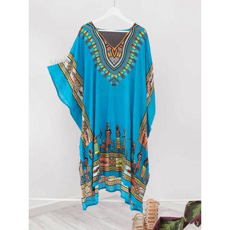 Egyptian Turquoise Kaftan