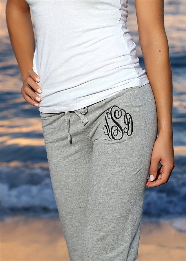 Monogrammed Slouchy Sweatpants | New Colors | Jane