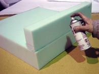 How to glue foam together for a seat cushion
