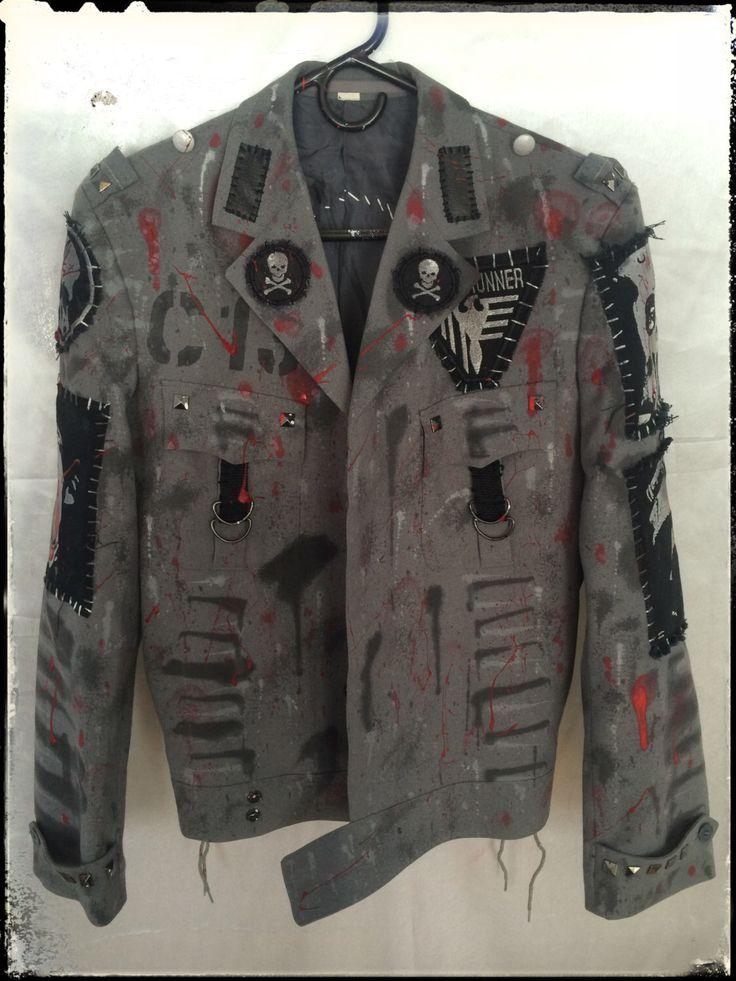 Custom Made Custom Jacket Rock Metal Punk Stage Rockstar Leather Denim ... about punk on Pinterest | Vests, Punk rock bedroom and Punk girls