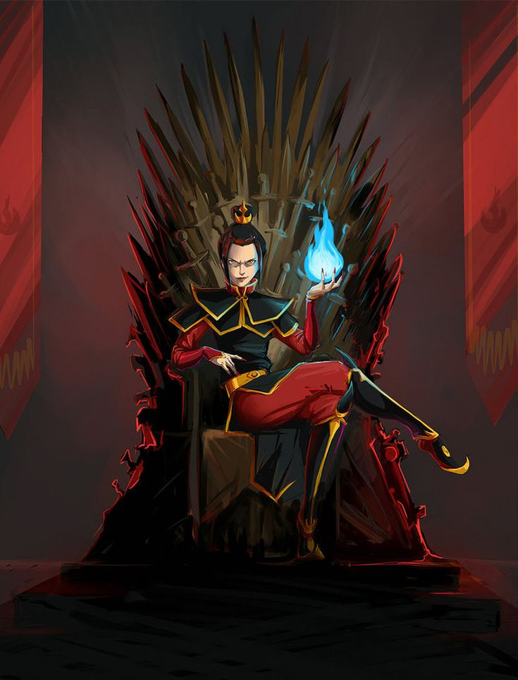 This was soooo Azula, I didn't even get the Game of Thrones reference. Azula on the Iron Throne by ~kissyushka on deviantART